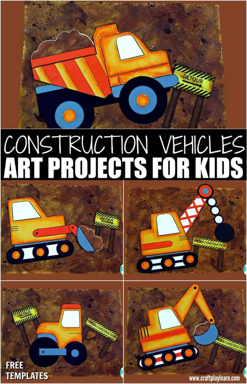 Construction Vehicles Art Projects For Kids Craft Play Learn