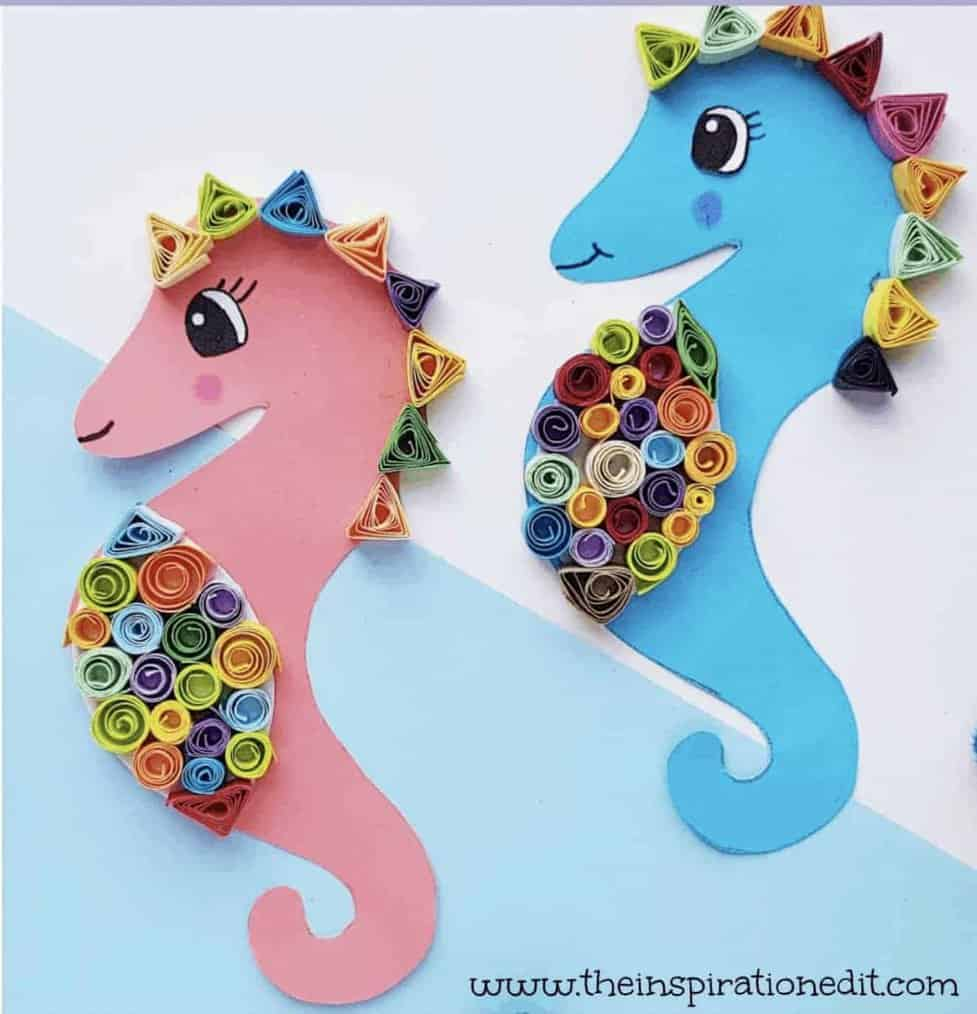 Fun Seahorse Craft Ideas For Kids Craft Play Learn