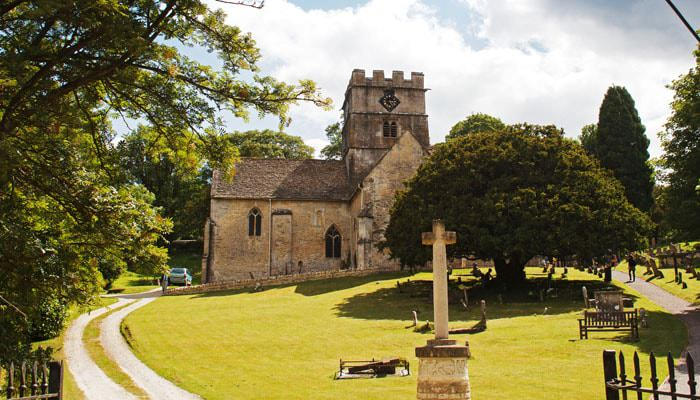 Wedding Photograph of Church in Avening Gloucestershire