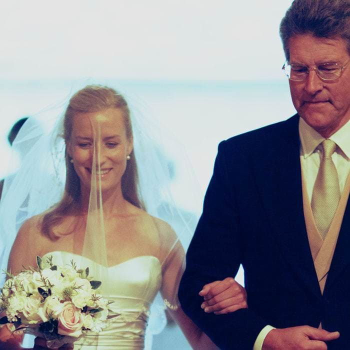 Wedding Photographer - Rachel and Father of the bride, Church Kemble