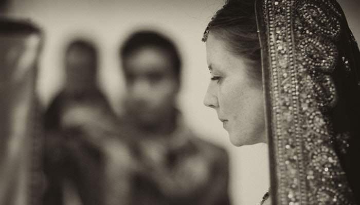 Bride at Hindu Ceremony Heythrop Park, Oxfordshire