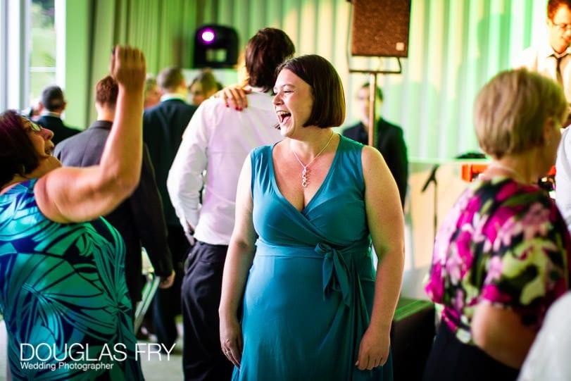 Guests enjoying the wedding at Coworth Park