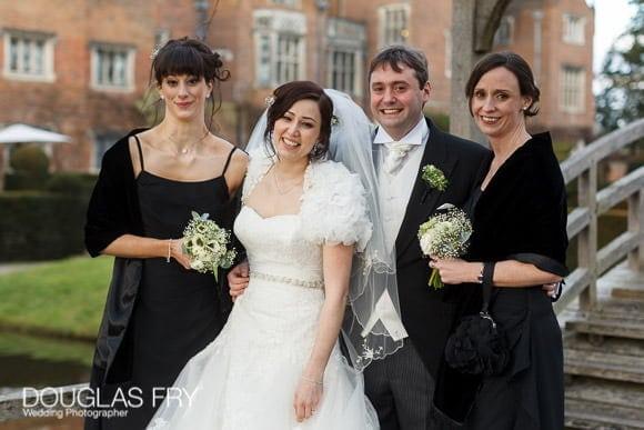 Family formal wedding photograph