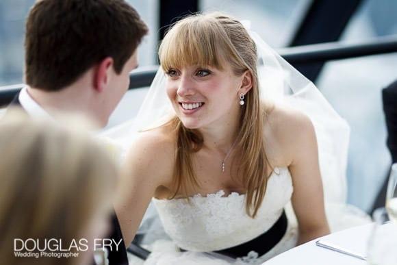 Couple during wedding reception