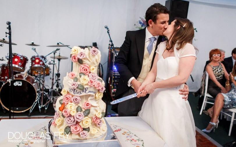 Cake cutting wedding photograph at Gray's Inn