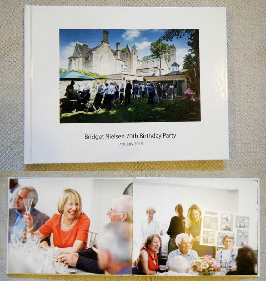 Birthday party photobook