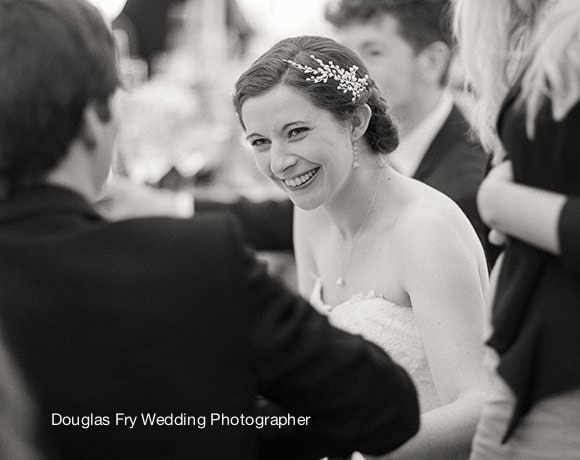 Wedding Photograph of bride at reception at Chiswick House