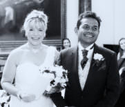 bride and groom - wedding photographer at stationers hall in London