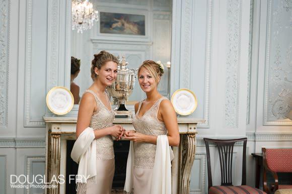 Formal photographs at wedding