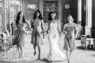bride and bridesmaids at syon house