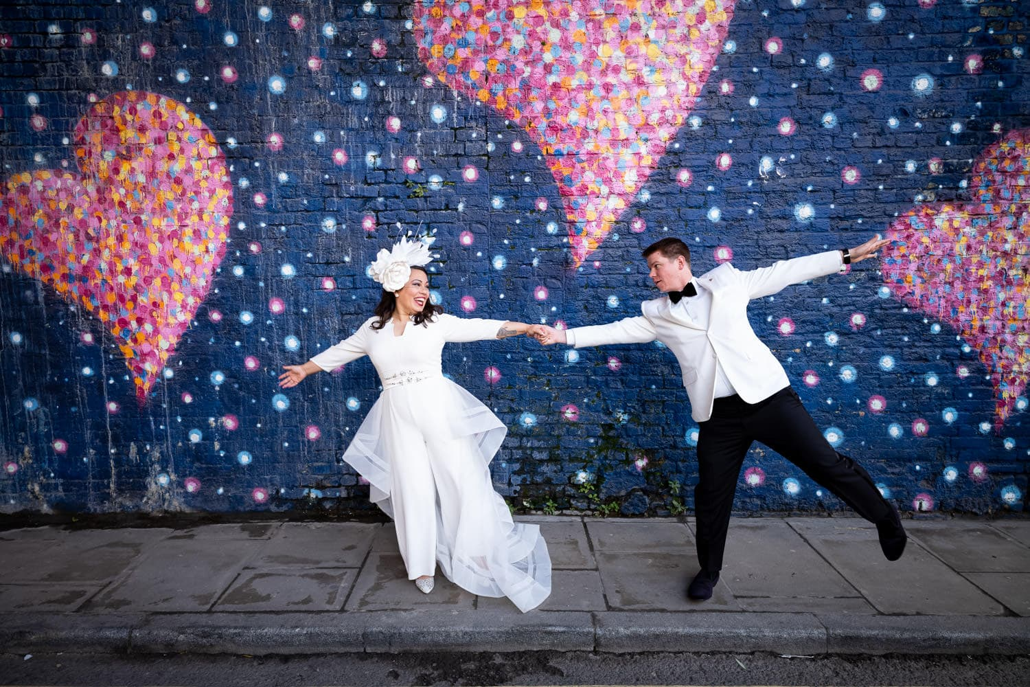 Douglas Fry 2020 Best wedding photographs - London couple during elopement from US