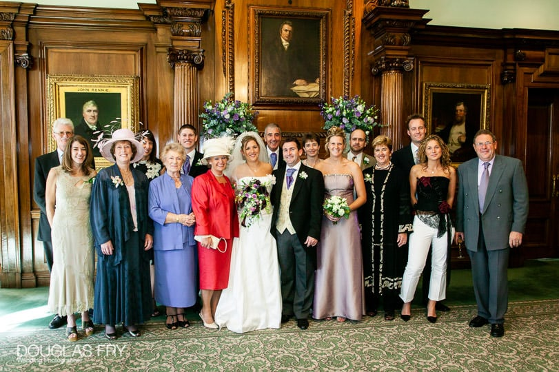 Wedding Photographer One Great George Street London - formal family group photograph