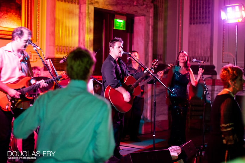 Wedding Photographer One Great George Street London - band playing