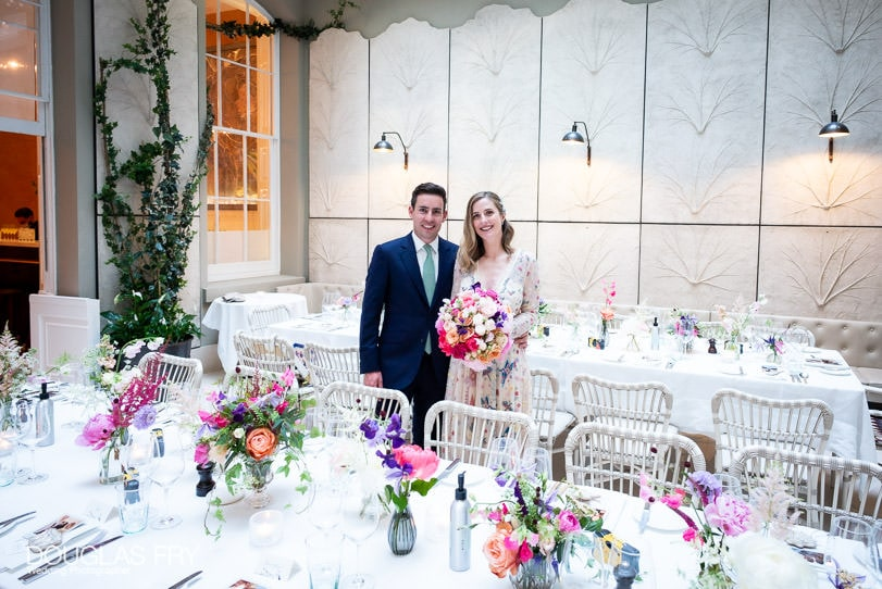 Wedding photograph of bride and groom at Somerset House