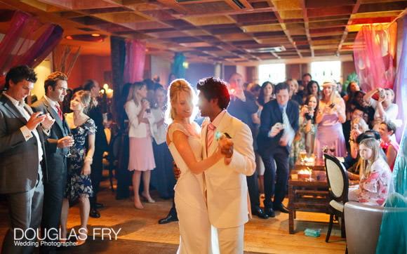 wedding photograph of couple dancing at claridges