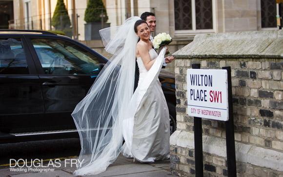 Wilton Place photograph of bride
