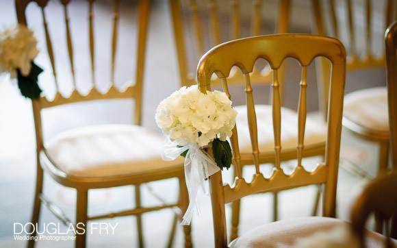 Chairs at wedding ceremony