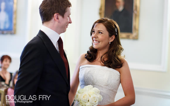 Wedding Photograph of couple in london at wedding