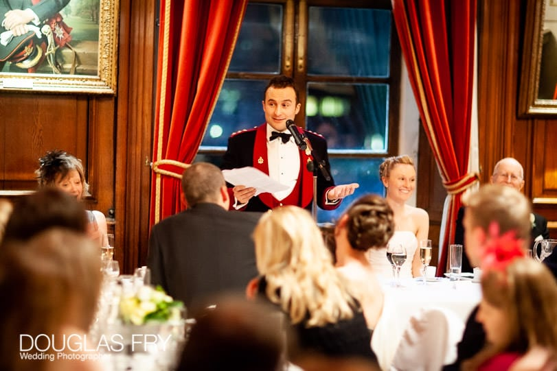 wedding speeches photographed at HAC in London