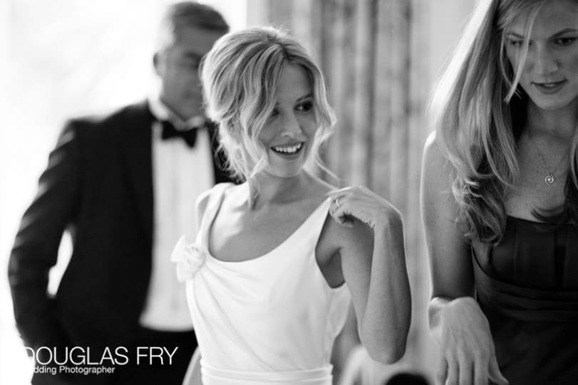 photograph of bride getting ready in Knightsbridge London