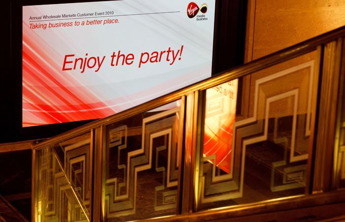 Party Photography for RIBA of their room set up for Virgin Media's party 1