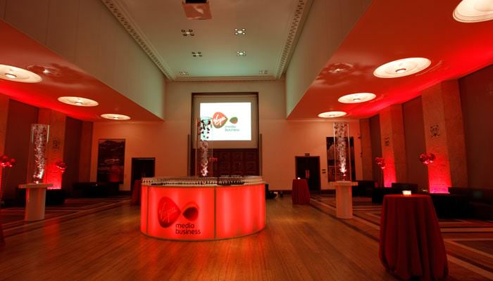 Party Photography for RIBA of their room set up for Virgin Media's party 2