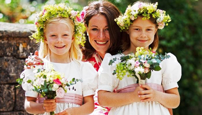 Wedding Photograph of The Bridesmaids in Avening Gloucestershire