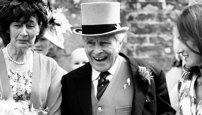 Wedding Photograph of the Father of the Bride in Avening Gloucestershire