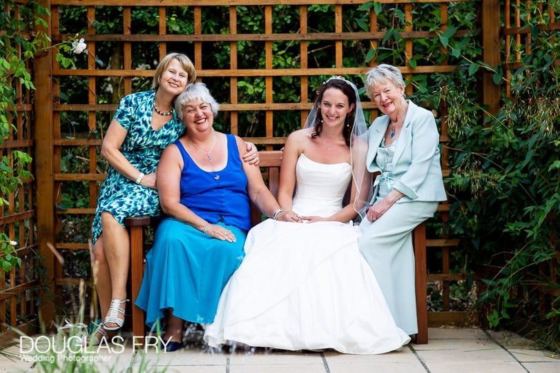 Family Group photograph at wedding
