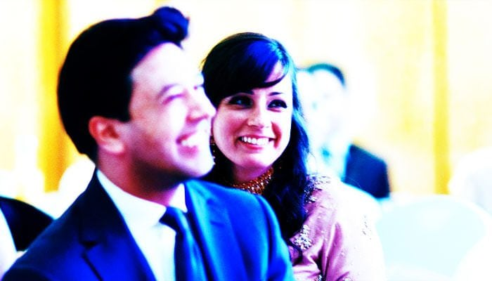 Indian Wedding Photographer Marriott Hotel, London - bride and groom