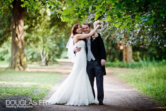 wedding photograph of couple together at Fulham Palace