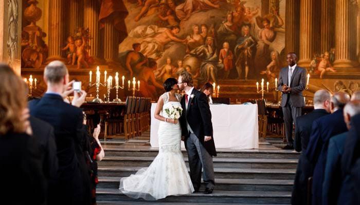 Wedding Photograph Painted Hall Greenwich, London