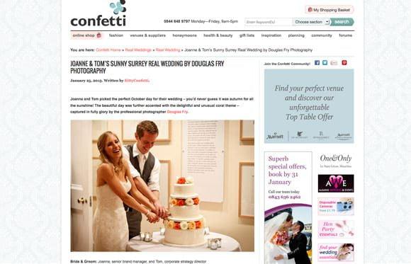 Real Wedding in Confetti