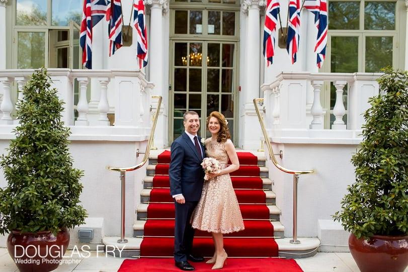 Wedding Photographer Mandarin Oriental Hotel - outside the London hotel