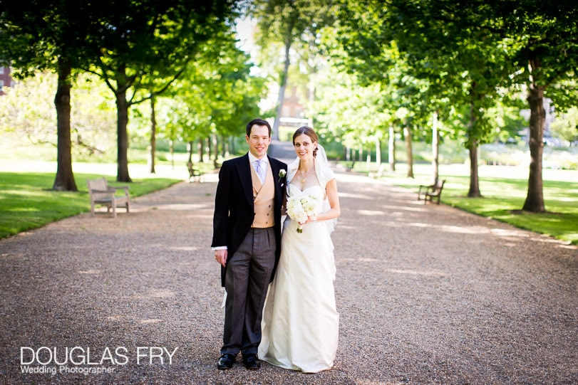 Couple outside at Grays Inn Wedding photograph