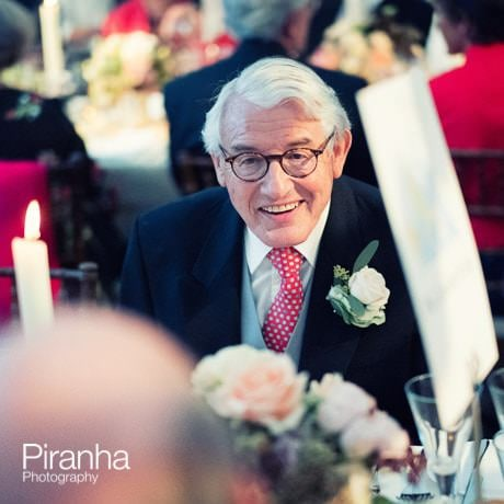 father of the bride at weddding breakfast