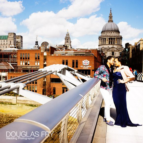 Photograph of coupe on Millenium Bridge in London