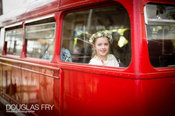 Bridesmaid pictures on London bus
