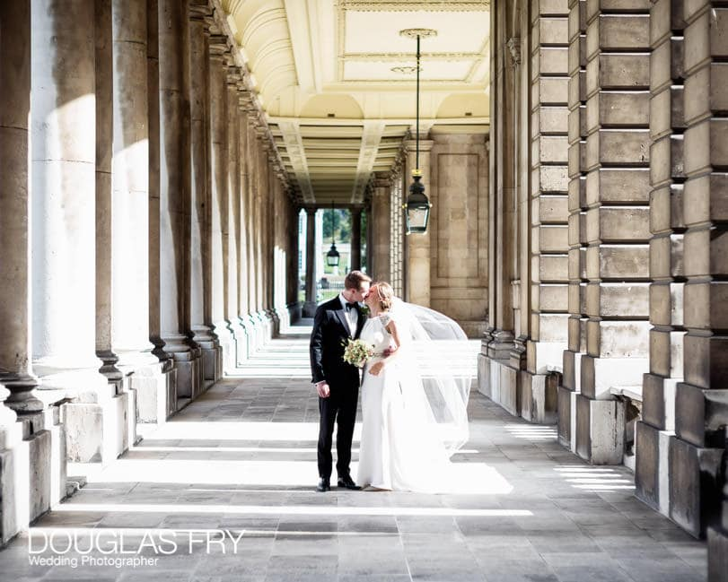 Couple at royal naval college in greenwich