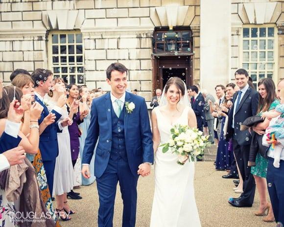 Confetti wedding photograph at Admirals House in Greenich