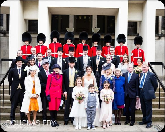 The Guards' Chapel and Cavalry and Guards Club Wedding Photographer 6