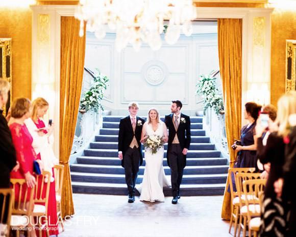 Bride arriving at wedding