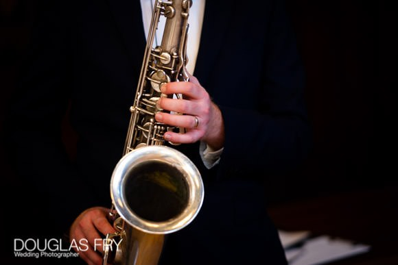 Photograph of Saxophonist at wedding open day in London