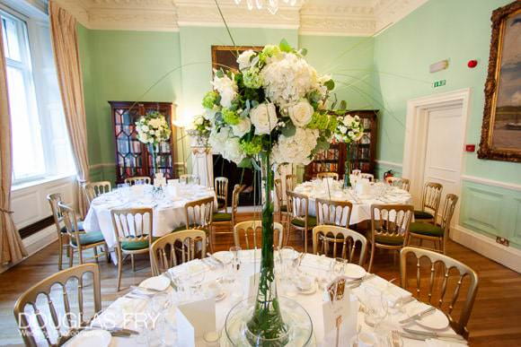 Venue - tables and flowers
