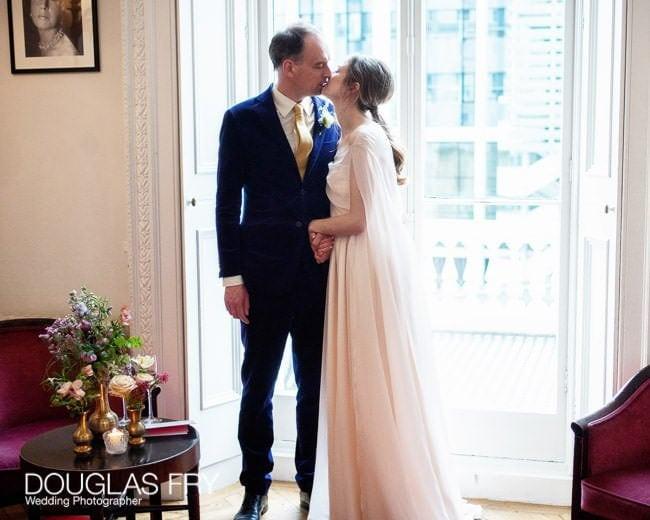 couple at Ognisko photographed together during wedding