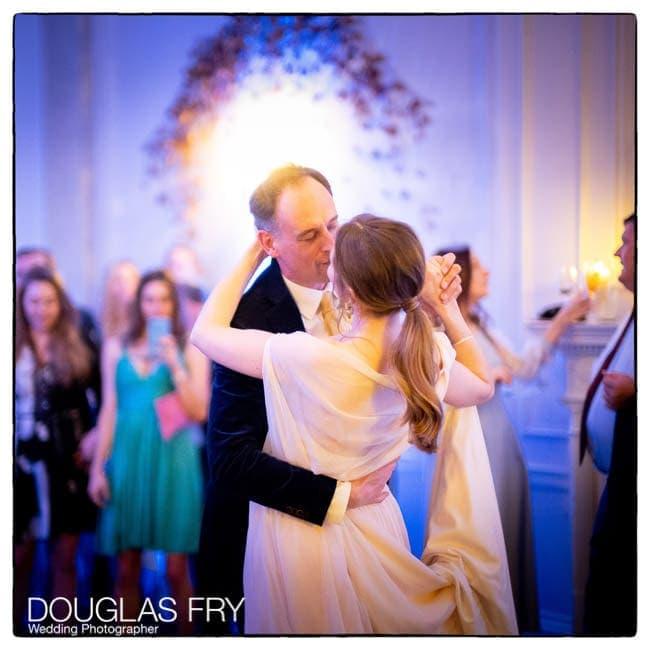 Bride and groom dancing at Ognisko in London