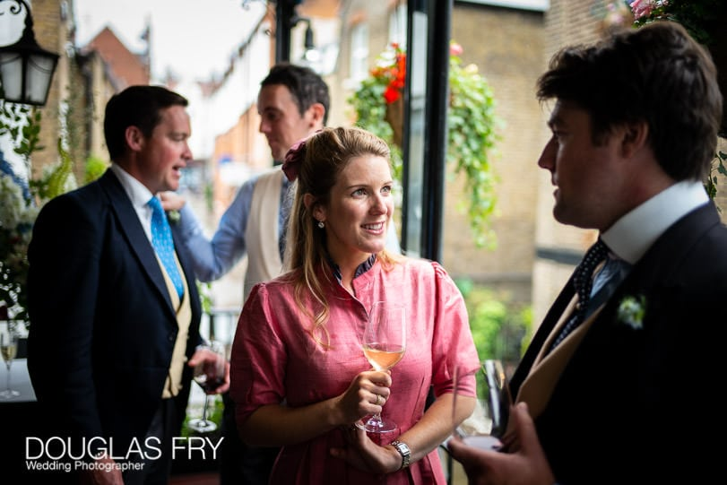 Reception in London Summer wedding