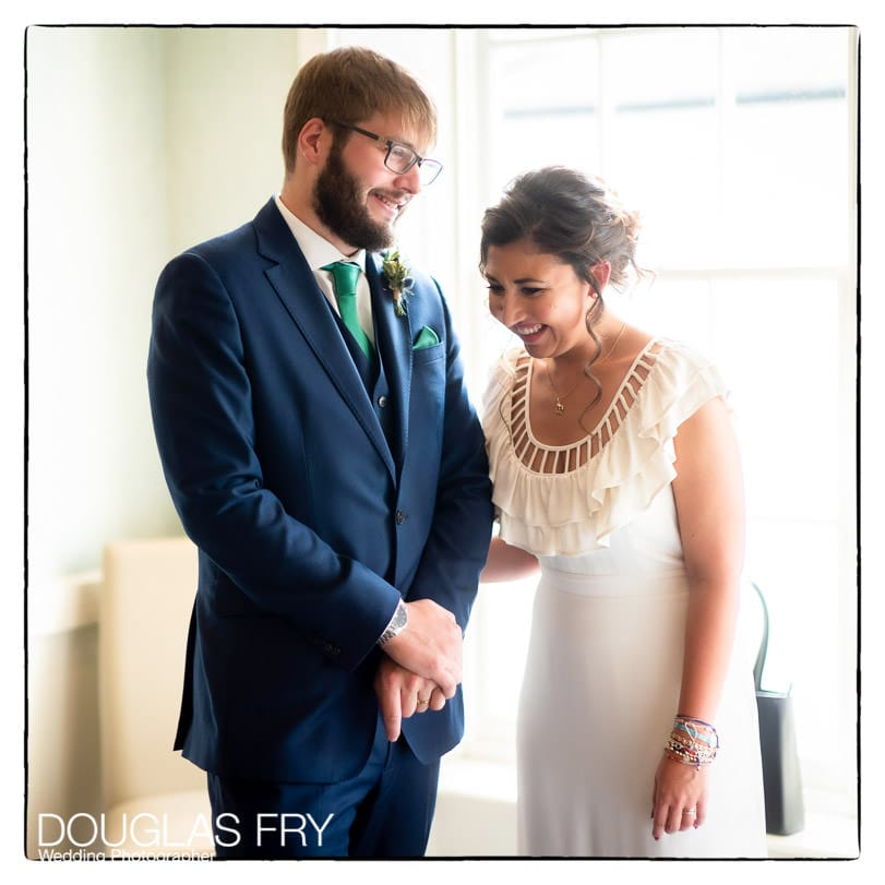 Socially Distanced Wedding Photography ceremony