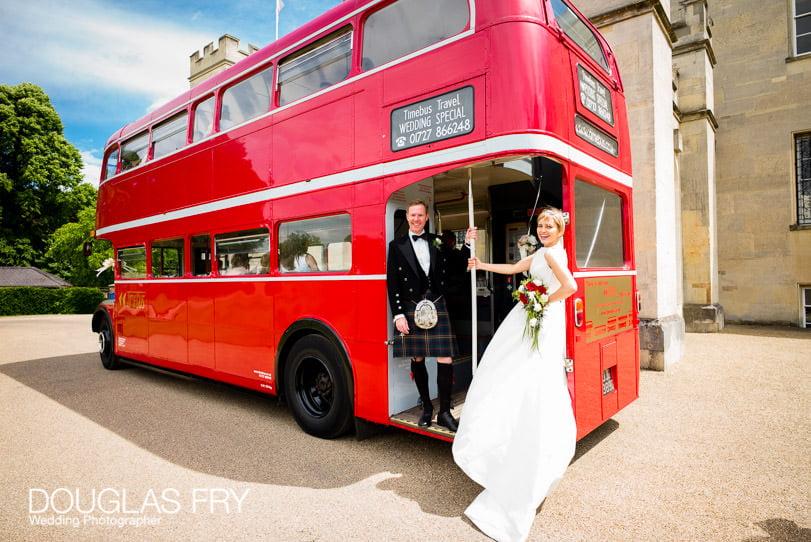London wedding photographer bus