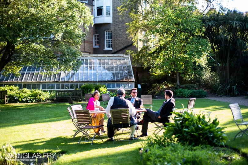 Guests relaxing at London wedding